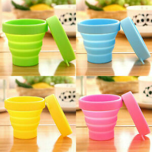 Silicone Folding Cup Bowl Set Telescopic Collapsible Outdoor Travel Camping Tool