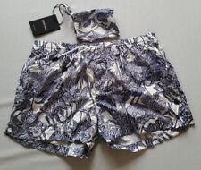 ROBERTO CAVALLI beachwear Herren Short weiß blau Gr.6/L***NEU mit Etikett