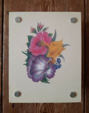 Beautiful Wooden Flower Press With Floral Design new unused