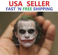 1/6 Scale Joker Heath Ledger Head Sculpt for 12'' Male Figure Body