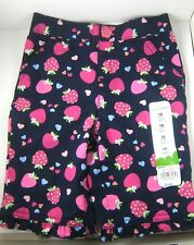 NWT Jumping Beans TODDLER CAPRI PANTS Sz 18 months Strawberry Cherry Hearts
