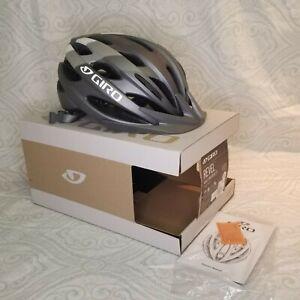 NIB Giro Revel Adult Universal Silver Cycling Helmet