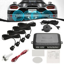 Parking 4 Sensors Car Reverse Backup Rear Buzzer Radar System Kit Sound