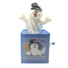 Frosty The Snowman Tin Jack In The Box Musical Gemmy Toy Collectible WORKING