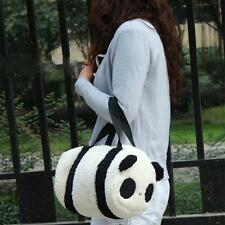 Cute Soft Plush Panda Cylindrical Handbag Travel Storage Shoulder Baby Bag