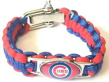 Paracord Survival Bracelet Chicago Cubs Braided Rope