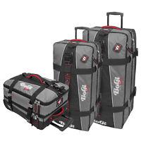 BoGi Bag Trolley 3er-Set Reisetaschen Koffer - 40 L + 85 L + 110 L Grau /Schwarz