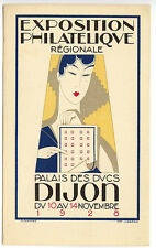 Dijon France 1928 Philatelic Exposition Gerard Artist Poster Advertise Postcard