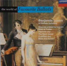 Benjamin Luxon - The World of Favourite Ballads (CD 1994 London) Near MINT