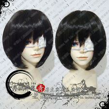 Another Mei Misaki Black Short Cosplay Wig +Free Eyepatch +Wig CAP Free Ship