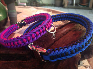 Jagged Ladder Knot Army grade Paracord Dog Collar, handmade in the USA All Sizes