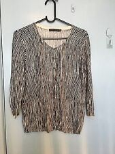Sportscraft black and white stripped cardigan in size L