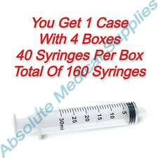 160 Pieces Medline 30ml Sterile Disposable Syringe Luer Lock Slip Syr130010
