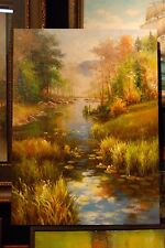 Original Oil Painting Art on Canvas LANDSCAPE OIL Unframed