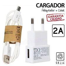 cable de datos y cargador compatible de 2A Samsung Galaxy S4 S5 S6 S7 NOTE NEGRO