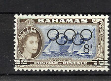 BAHAMAS 1964 OLYMPIC GAMES PLATE BLOCK OF 4 MNH
