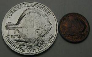 TURKEY 5 Kurus & 2-1/2 Lira 1980 - 2 Coins. - 1549