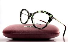 NEW Authentic MIU MIU NOIR Green Havana EyeGlasses Frame MU 02OV UAG-1O1 VMU 02O