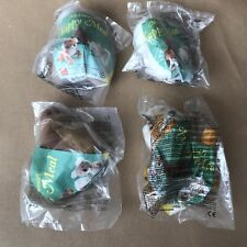 Full Set of 4x Wildlife Mcdonalds Happy Meal Toys - Year 1996 Plush - Sealed