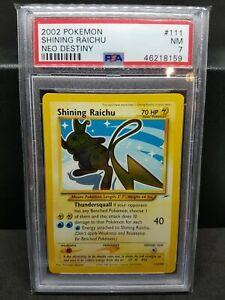 PSA 7 NEAR MINT Shining Raichu Holo #111 SR Neo Destiny 2002 Pokemon TCG WOTC