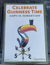 """New listing Guiness beer tin sign """"Celebrate Guiness time� tucan st. Patricks day 16X20�"""