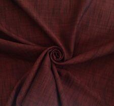 6 metri di Cotone Foderato In Tweed per Tende & Tappezzeria Stoffa in Borgogna e Nero