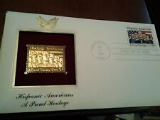 Hispanic Americans -22KT Golden Replica of United States Stamps-A Proud Heritage