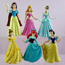 LATEST 6 pcs Disney Princess Snow White Cinderella Belle 9cm Action Figures SET