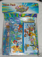 NEW IN PACKAGE DIGIMON  11 PC STATIONARY KIT, PENCILS,
