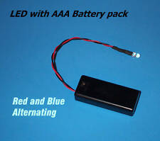 RED / BLUE ALTERNATING LED AAA BATTERY PACK & SWITCH(Halloween / fake car alarm)