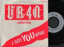 "UB40 AND CHRISSIE HYNDE i got you babe 7"" PS EX/EX german 107 557-100"