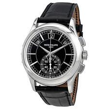 Patek Philippe Complications Black Dial Annual Calendar Platinum Mens Watch