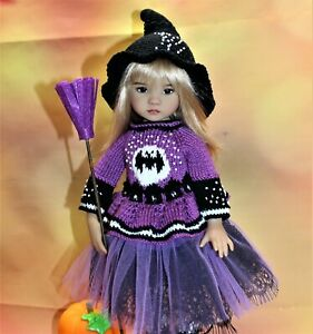 """Little Witch outfit + boots for Little Darling, Dianna Effner 13"""" Halloween"""