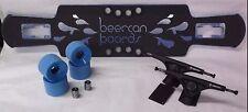 """BEERCAN BOARDS CLEARANCE LONGBOARD COMPLETE BEAR852S BCBWHEELS 38""""T KEG LITE BLU"""