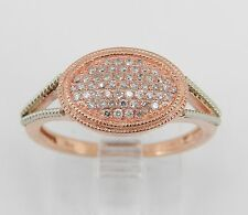 Cluster Diamond Engagement Promise Ring Right Hand Ring Rose Gold Size 5.75