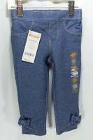 Gymboree Baby Girls Jeggings Denim Jeans Stretch With Bow Ankle Accent NEW NWT