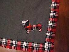 "DACHSHUND DOG Checkered Throw Blanket - 50"" x 60"" NEW Telluride Co."