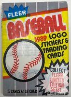 1989 FLEER MLB Baseball Card PACK Unopened Wax PACK Sealed Billy Ripken Error?