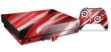 Skin for XBOX One X Console Controller Paint Blend Red Decal