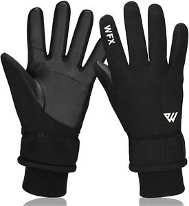 Mens Winter Warm Windproof Cycling Anti-slip Thermal Touch Screen Gloves UK