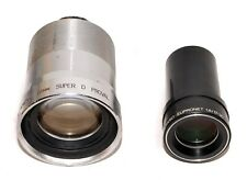 BELL & HOWELL 16 MM SUPER D PROVAL 2 INCH f/1.4 + EUMIG EUPRONET PROJECTOR LENS