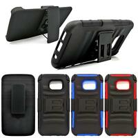 For Samsung Galaxy Heavy Duty Combo Belt-Clip Holster Shockproof Hard Case Cover