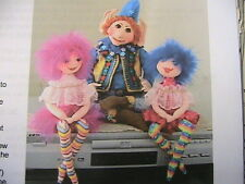 """FANCY NANCY~Judith Prior 12"""" whimsical cloth art doll pattern from magazine"""