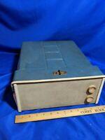 Model 2091 Portable Turntable Speaker Tube Amp Record Player 16-33-45-78 VTG MCM