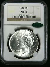 1922 Peace Silver Dollar NGC MS65 CAC Blast White Gorgeous Luster, PQ #G033