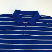 Marc Edwards Polo Shirt Men's Size 2XL XXL Short Sleeve Blue  Striped Golf