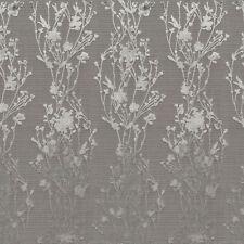 Arc com Provence Mist Gray  Cherry Blossom Floral Cut Velvet Upholstery Fabric