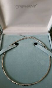 Epiphany Platinum Clad Woven Adjustable Length Omega Necklace,