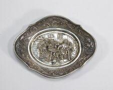 1937 Dutch 833 Silver Repousse Scenic Nut Dish ~ Amsterdam