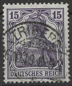 Germania MiNr. 101c mit KURZBEFUND Weinbuch BPP und gestempelt